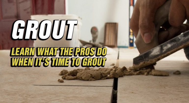 Learn what to do with grout - Mike Holmes Advice Make It Right