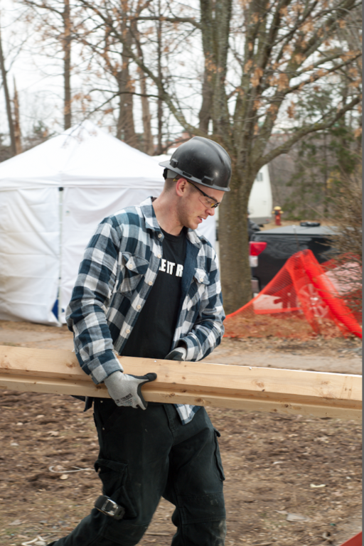 Stigma In The Skilled Trades - Mike Holmes Jr Carrying Wood