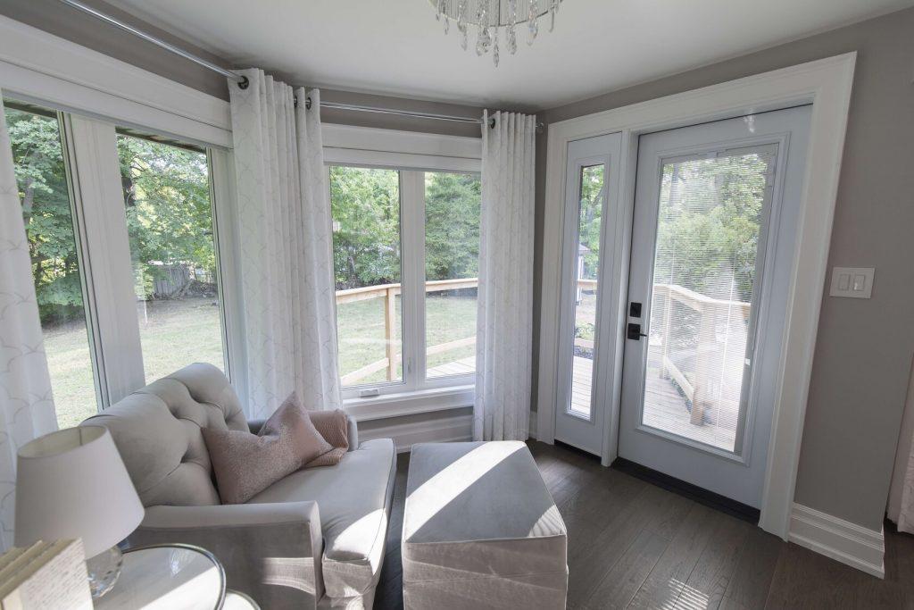 new windows and door in renovated room